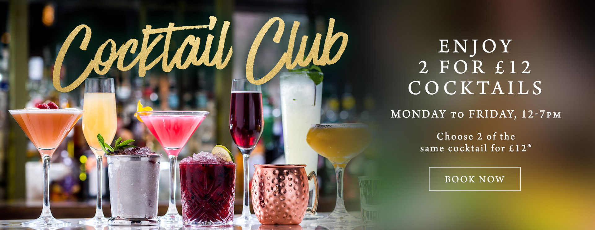 2 for £12 cocktails at The Mossbrook Inn